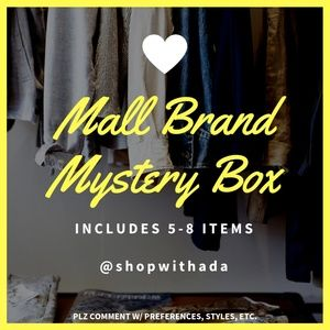 Mall Brand Mystery Box Up to 8 Pieces
